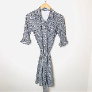 J McLaughlin Graphic Print Collared Dress